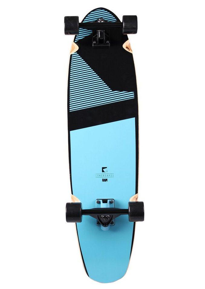 Ram Longboard, »Blacker« in blau-schwarz
