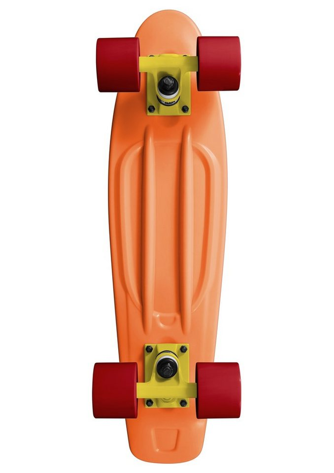 Ram Mini Cruiser Skateboard, »Old School« in orange
