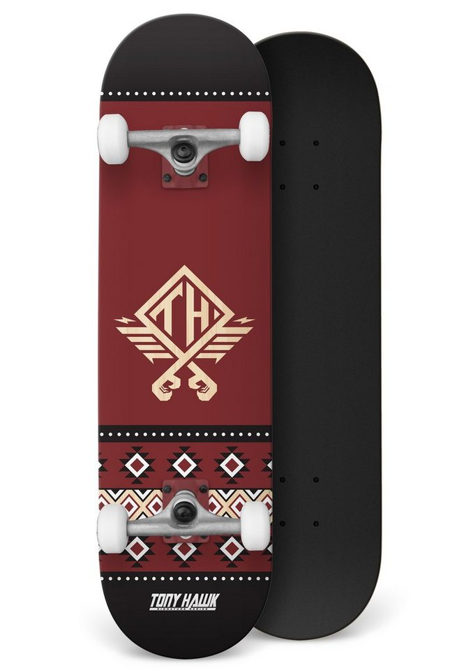 Tony Hawk Skateboard, »Native Andorra« in rot-schwarz