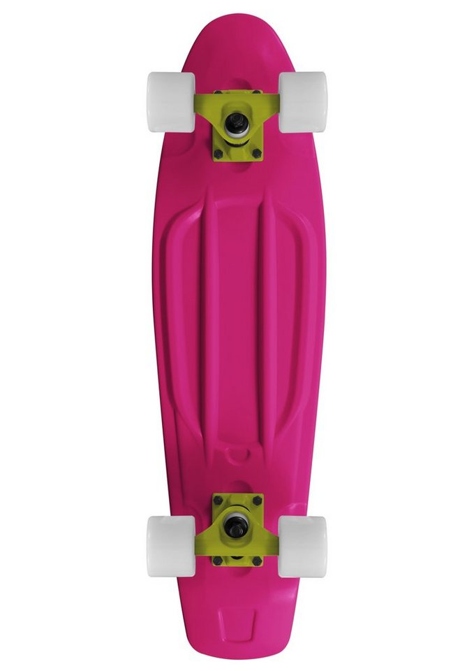 Ram Mini Cruiser Skateboard, »Old School« in rosa