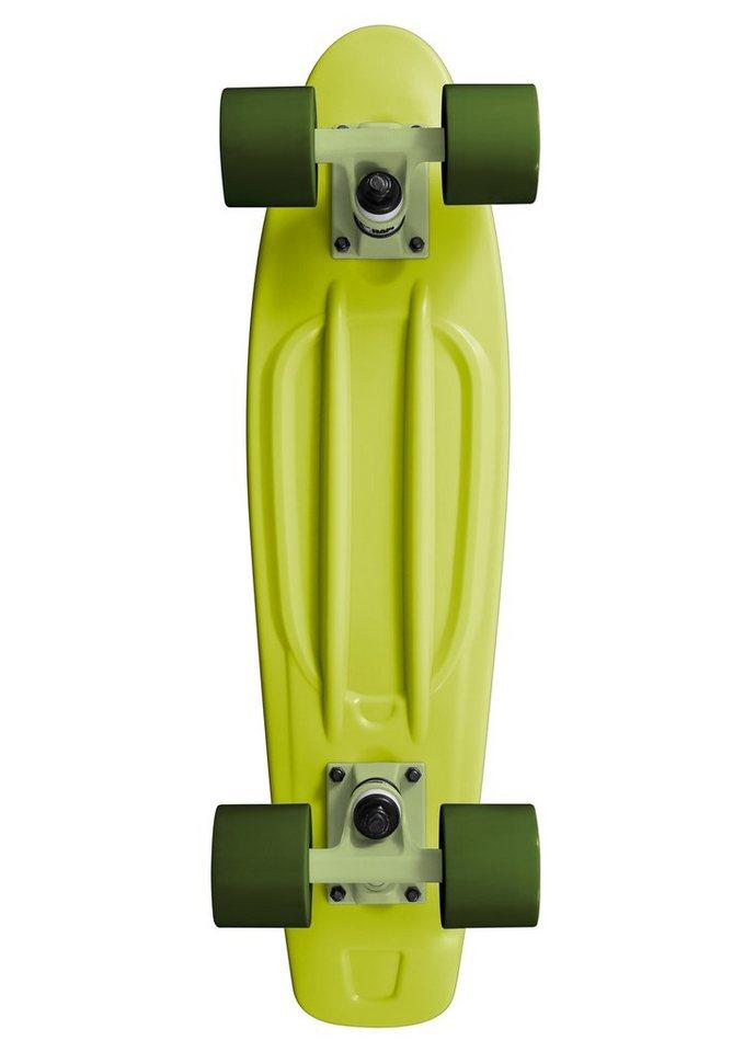 Ram Mini Cruiser Skateboard, »Old School« in grün