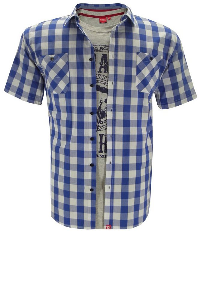 D555 Oberhemd und T-Shirt Kombination in Blau