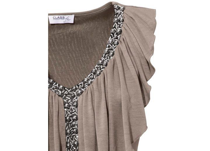 ASHLEY BROOKE by Heine Bodyform-V-Shirt mit Volant 100% Original Zum Verkauf Zu Verkaufen Billig Bester Ort Billig Verkauf Großer Verkauf NPPVW4E