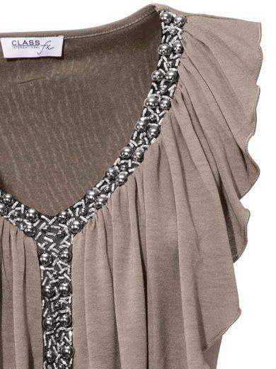 ASHLEY BROOKE by Heine Bodyform-V-Shirt mit Volant