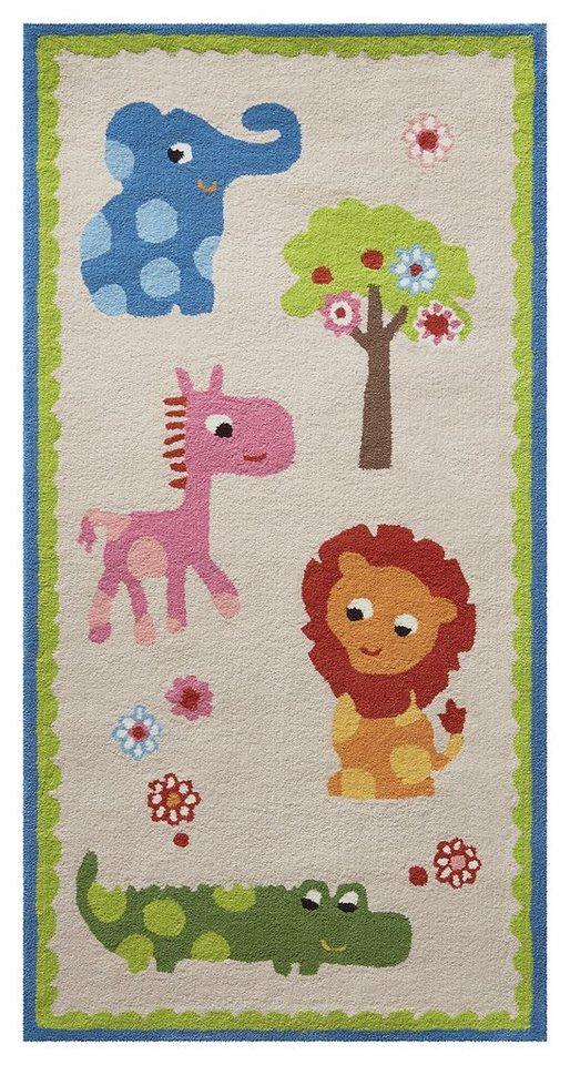 Kinder-Teppich, Esprit, »Zoo«, handgetuftet in beige