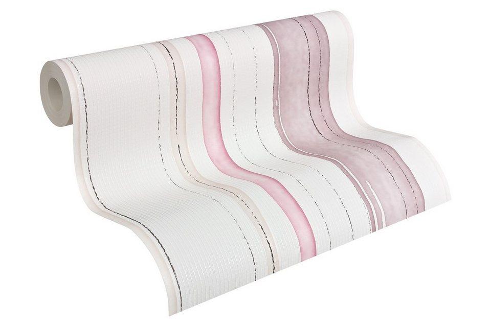 Vliestapete, Esprit, »Esprit 10 Lakeside - Frühlingserwachen« in beige violette weiß