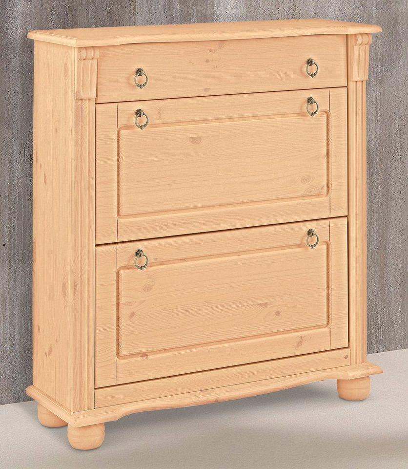 home affaire schuhkommode florenz mit 2 oder 3 klappen online kaufen otto. Black Bedroom Furniture Sets. Home Design Ideas