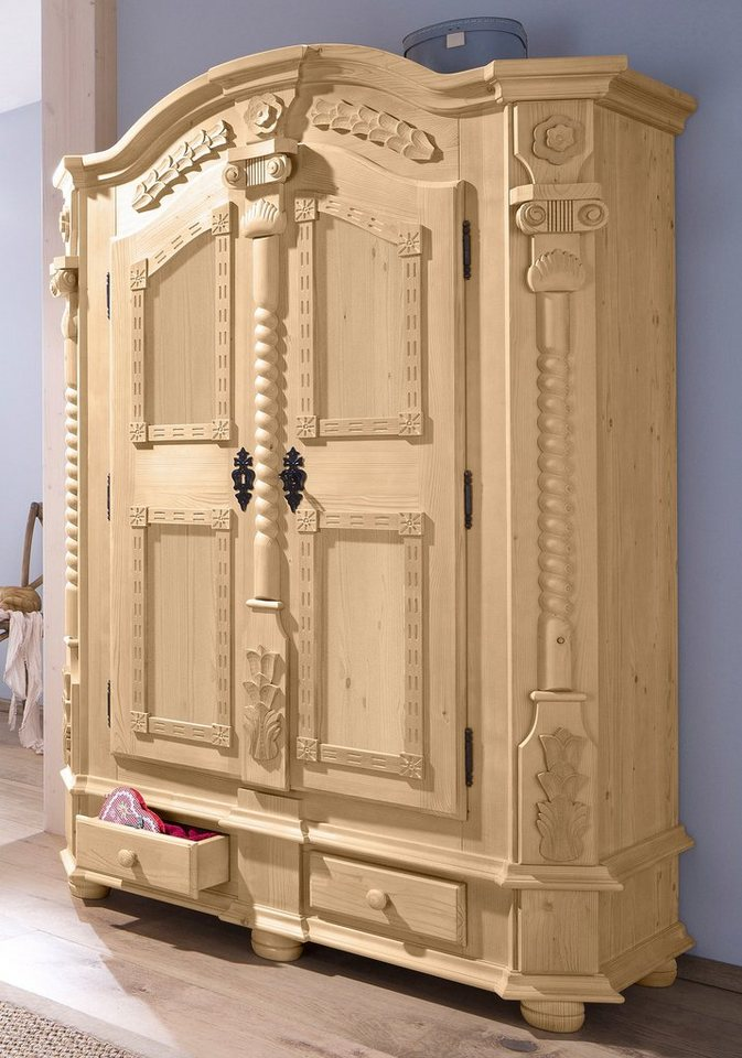 Premium Collection by Home affaire Garderobenschrank »Teisendorf« (2-türig) in natur