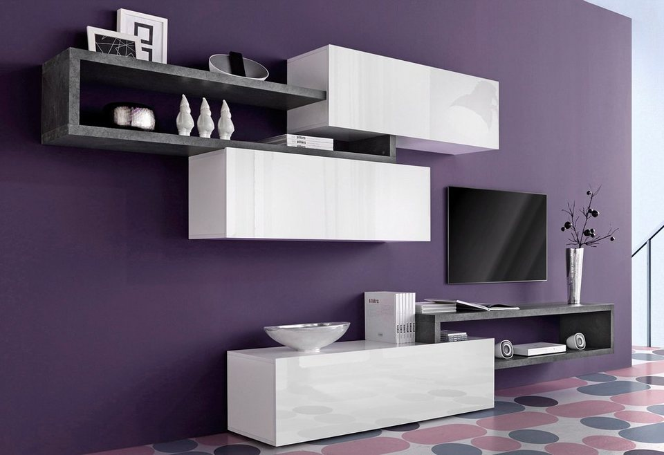 inosign wohnwand 5 tlg online kaufen otto. Black Bedroom Furniture Sets. Home Design Ideas