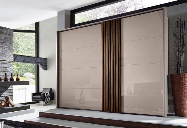 rauch Schwebetürenschrank »Tegio« mit Holzdekoraufleistung | Schlafzimmer > Kleiderschränke > Schwebetürenschränke | Metall | rauch