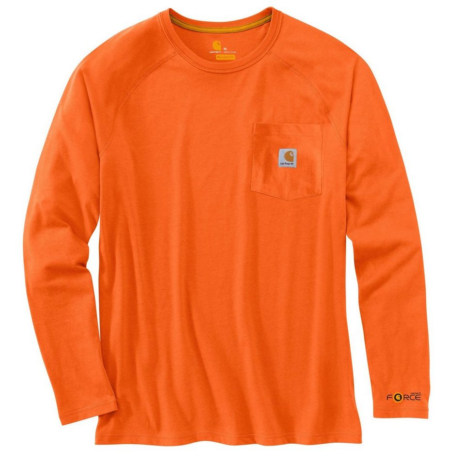 Langarmshirt »Force« in orange