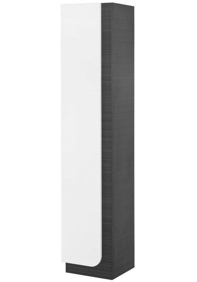 Hochschrank »Urano«, Breite 30 cm in negrofarben/weiß