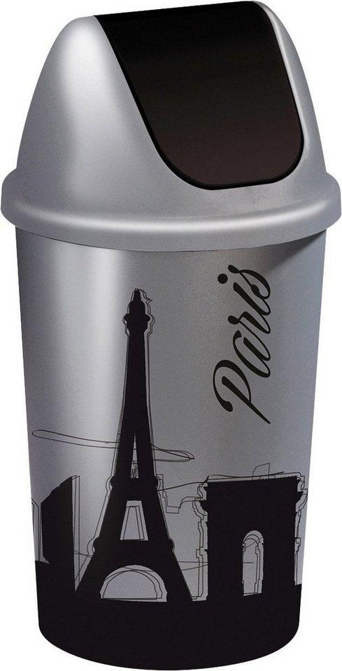 Abfalleimer »Skyline Paris« in grau/schwarz