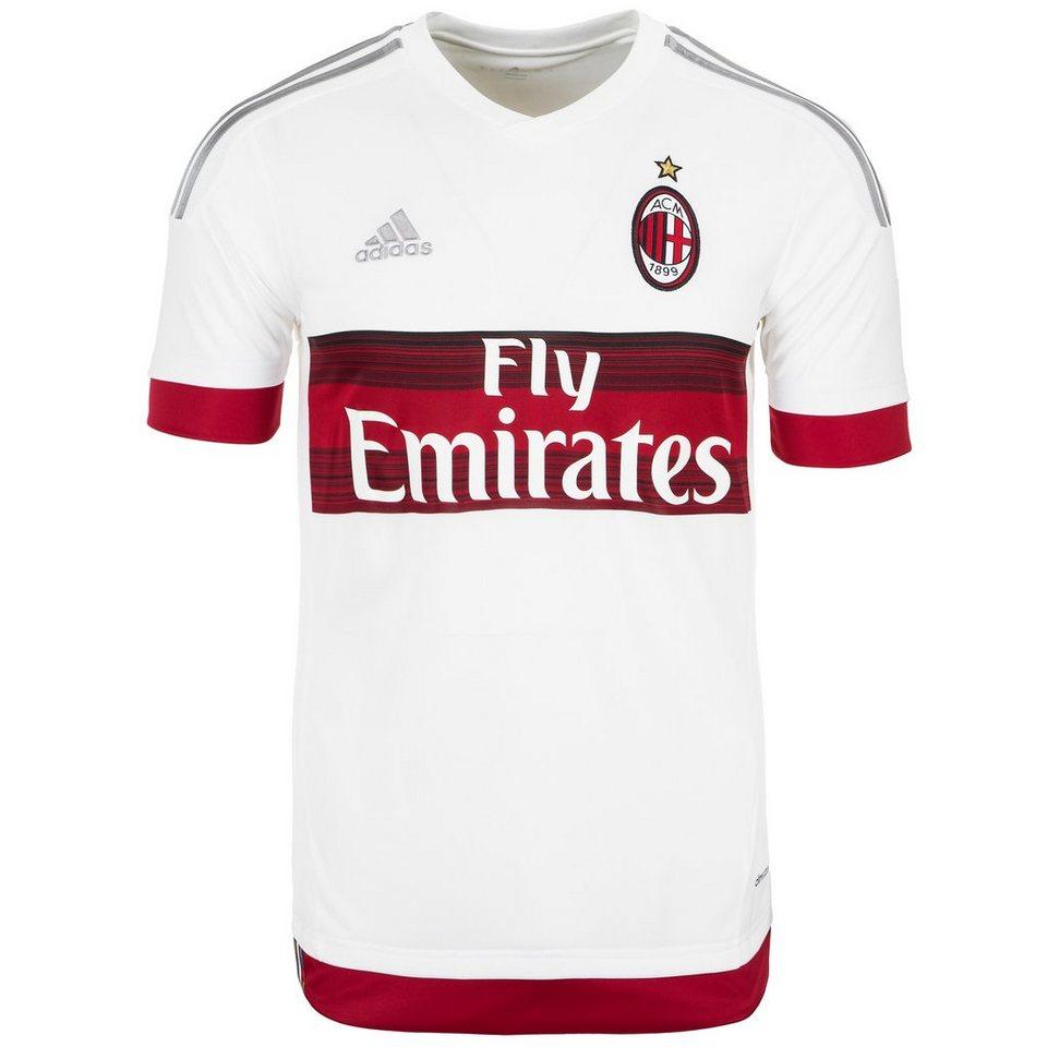 adidas Performance AC Mailand Trikot Away 2015/2016 Herren in weiß / rot