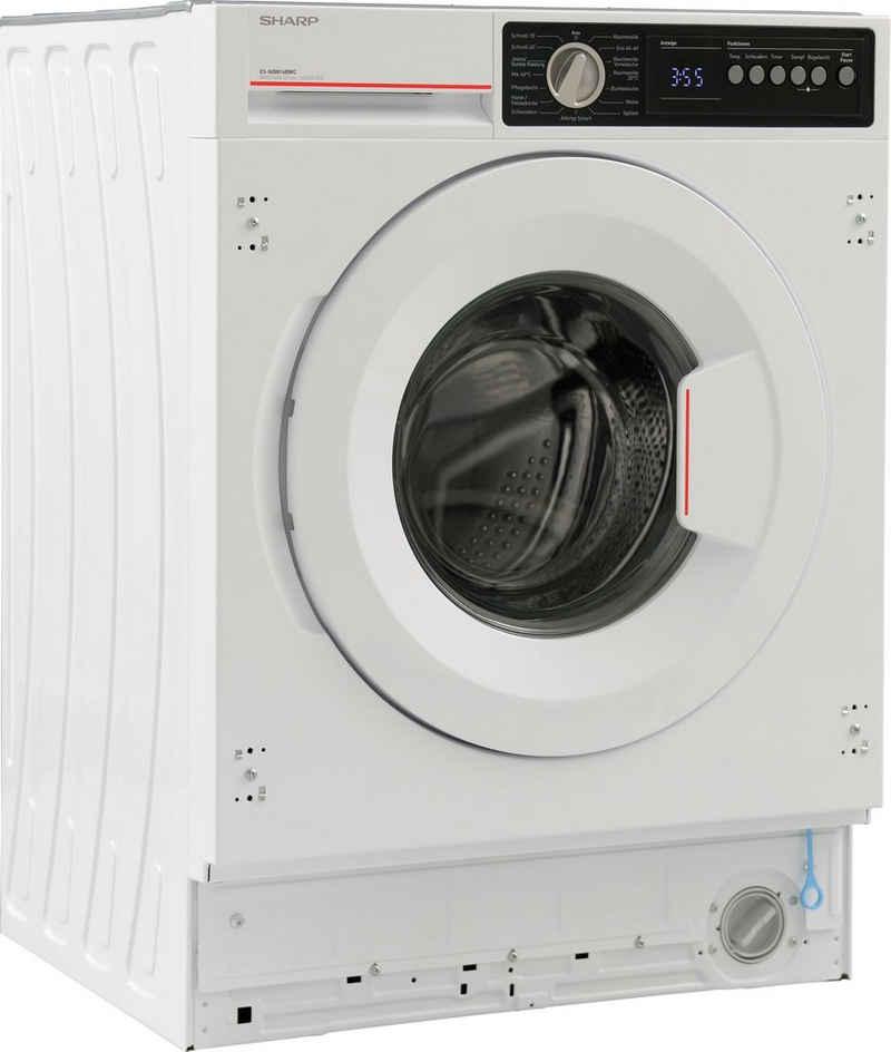 Sharp Einbauwaschmaschine ES-NIB814BWC-DE, 8 kg, 1400 U/min
