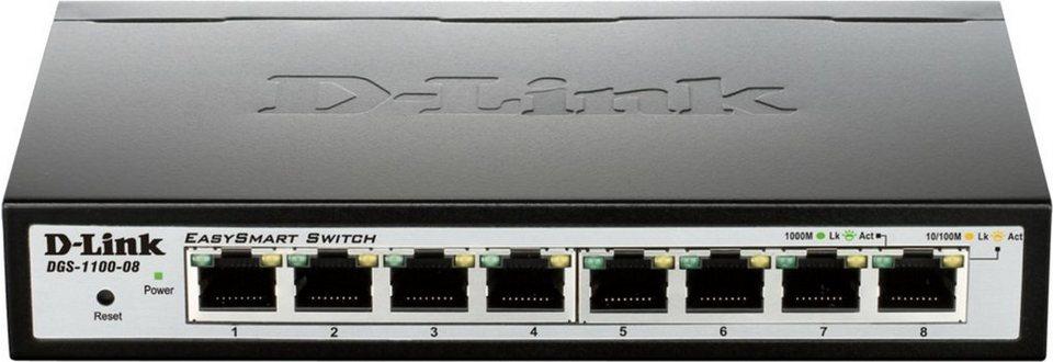 D-Link Switch »8-Port Gigabit Smart Switch DGS-1100-08« in Silber-Schwarz