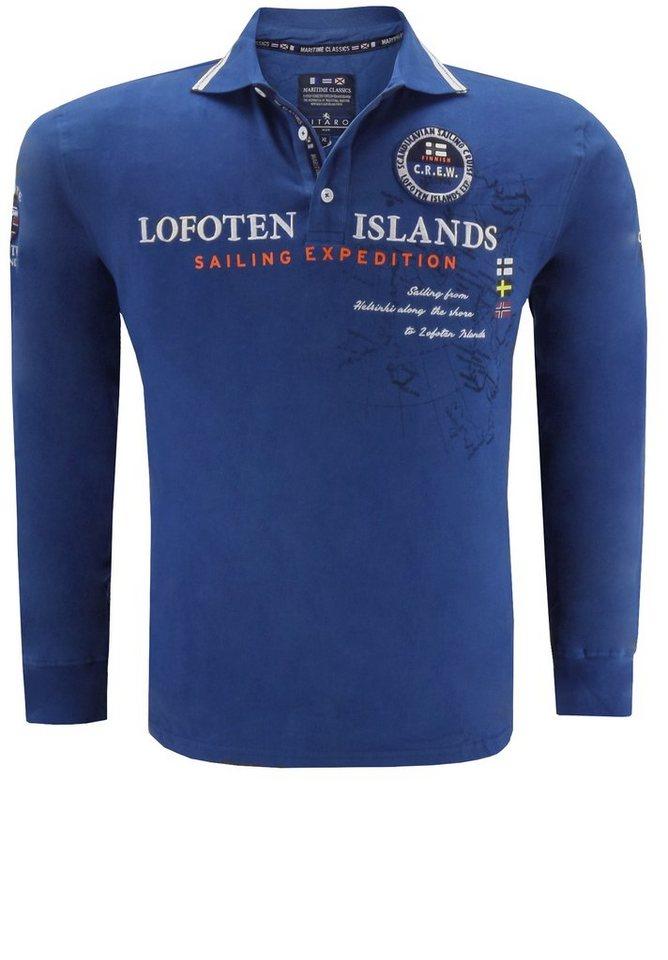 kitaro Polosweater in Blau