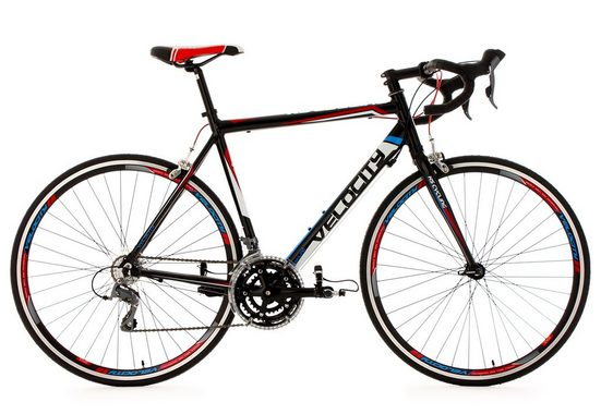 KS Cycling Rennrad »Velocity«, 24 Gang Shimano Claris RD-2400 Schaltwerk, Kettenschaltung