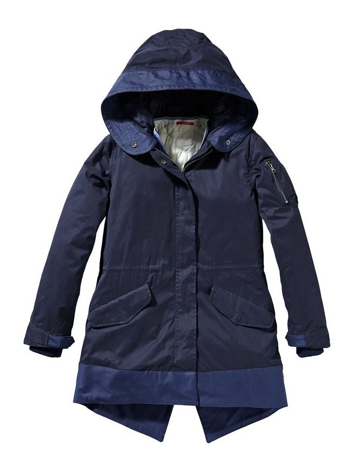 Maison Scotch Mantel »Parka with bomber detailing« in blau
