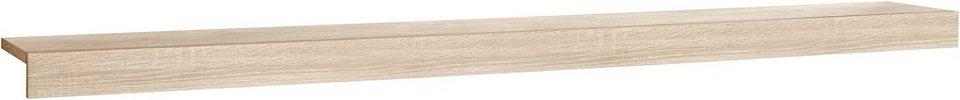 Wandboard mit Blende, Breite 140 cm in eichefarben sägerau