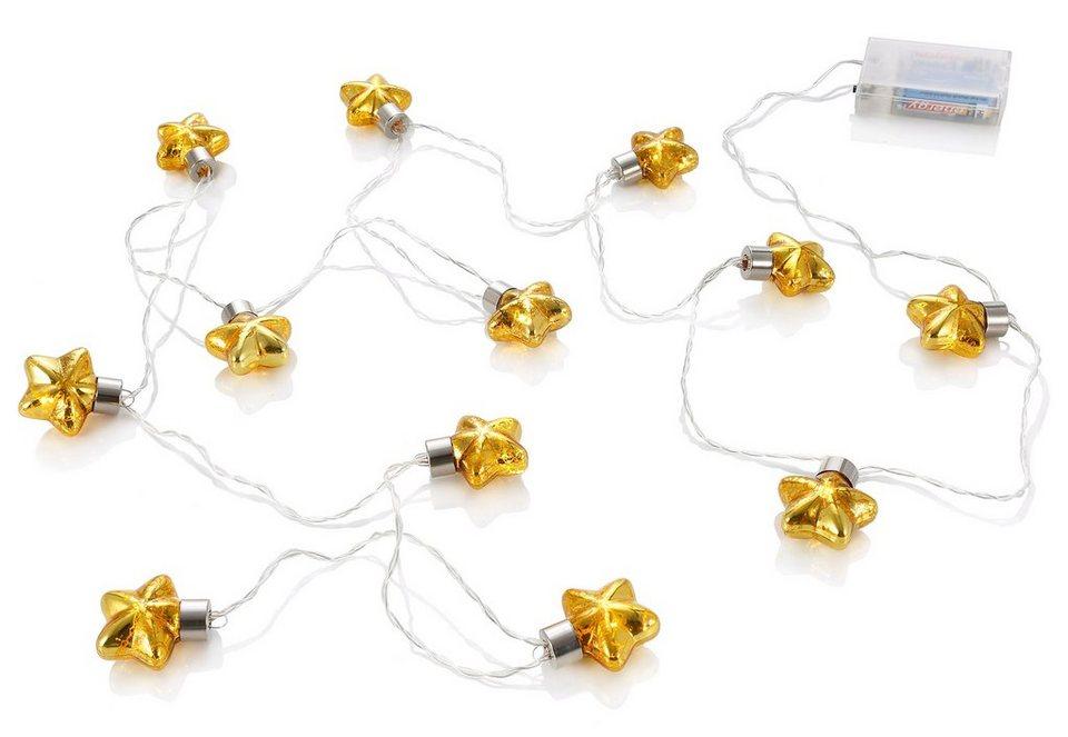LED-Lichterkette, »Stars« in antikgold