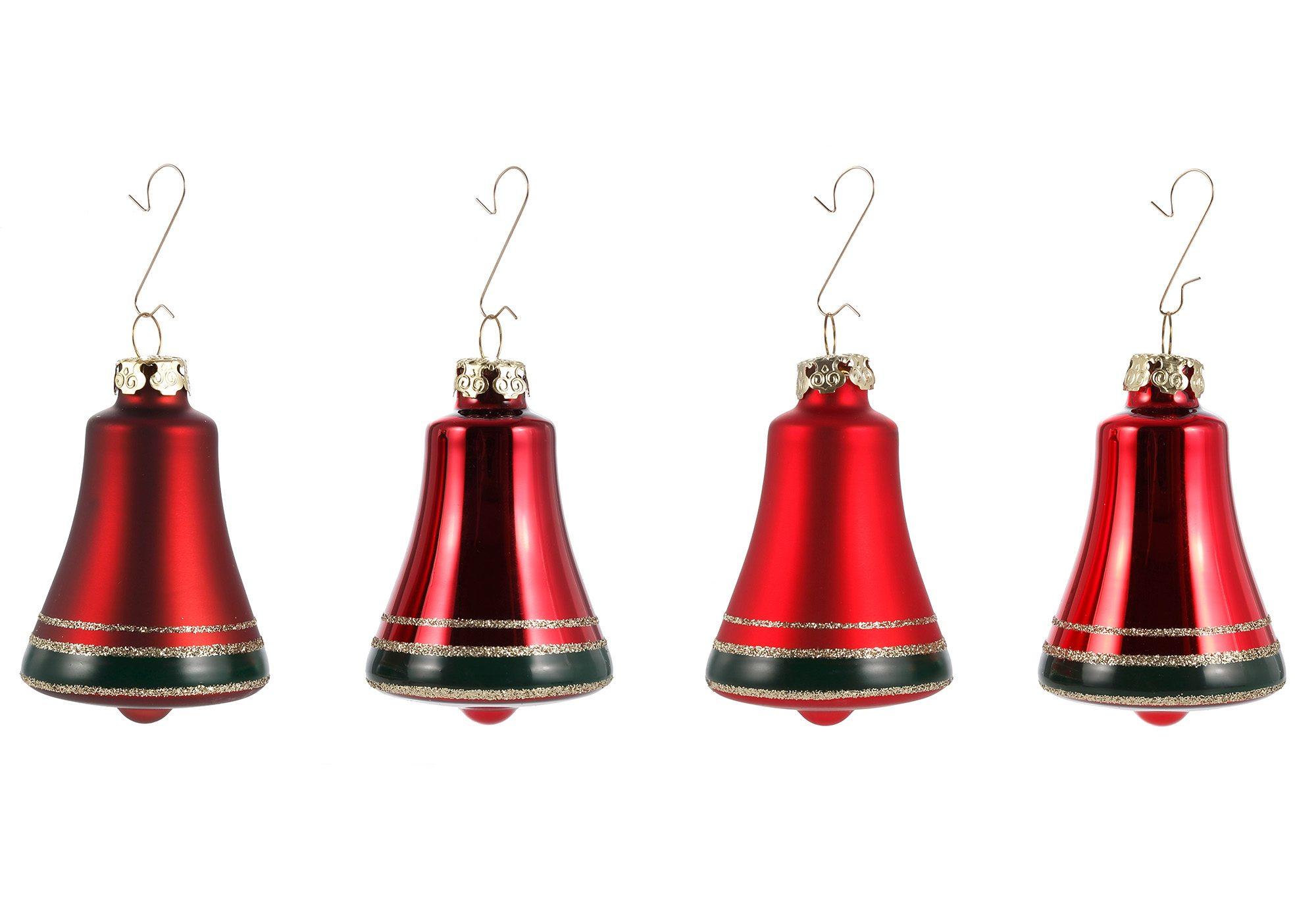 Thüringer Glasdesign Set: TGS-Christbaumschmuck Glocken »Advent« (4tlg.)