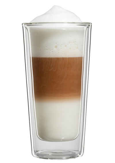 Bloomix Latte-Macchiato-Glas »Milano Grande«, Glas, Doppelwandig, 4-teilig