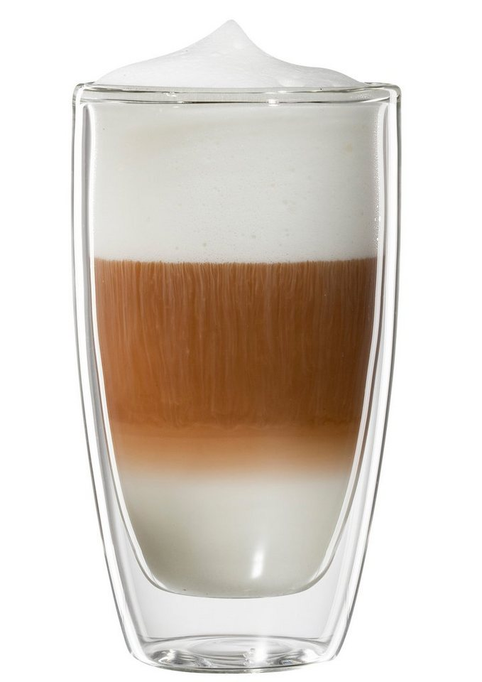 bloomix Latte Macchiato-Glas, 4er Set, »Roma«, 300 ml in transparent