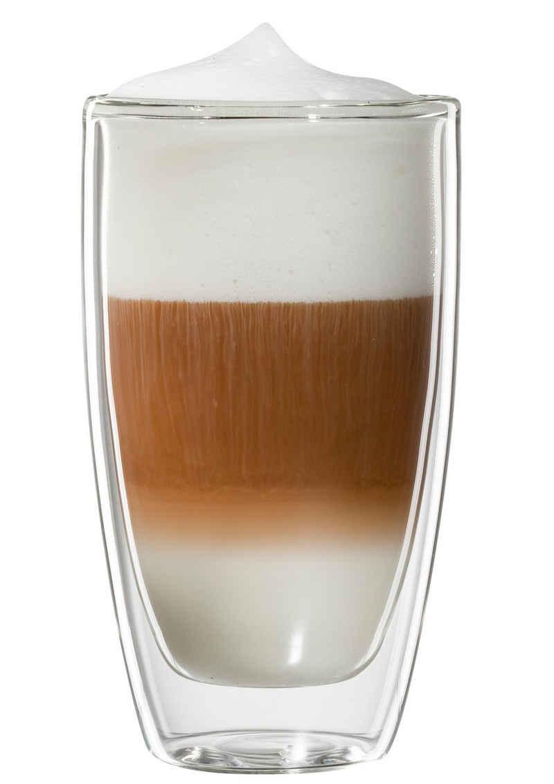 Bloomix Latte-Macchiato-Glas »Roma«, Glas, Doppelwandig, 4-teilig