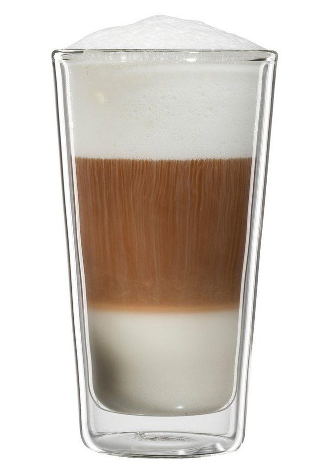bloomix Latte Macchiato-Glas, 4er Set , »Milano«, 300 ml in transparent