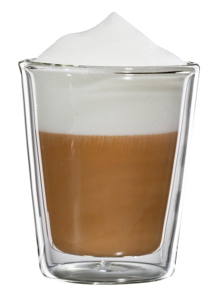 bloomix Cappuccino-Glas, 4er Set, »Milano«, 200 ml in transparent