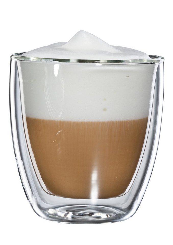 bloomix Cappuccino-Glas, 4er Set, »Cappuccino Grande«, 250 ml in transparent