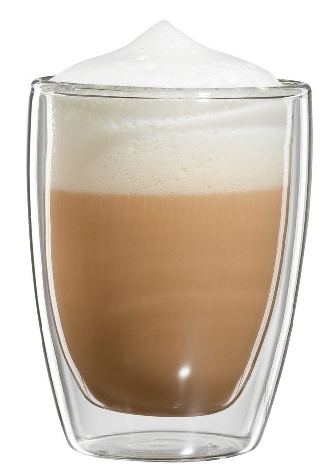 bloomix Cappuccino-Glas, 4er Set, »Roma«, 200 ml in transparent