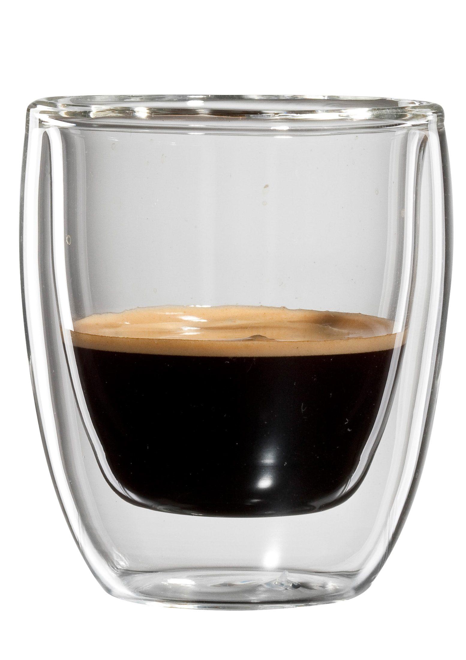 bloomix Espresso-Glas, 4er Set, doppelwandig, »Roma«, 80 ml