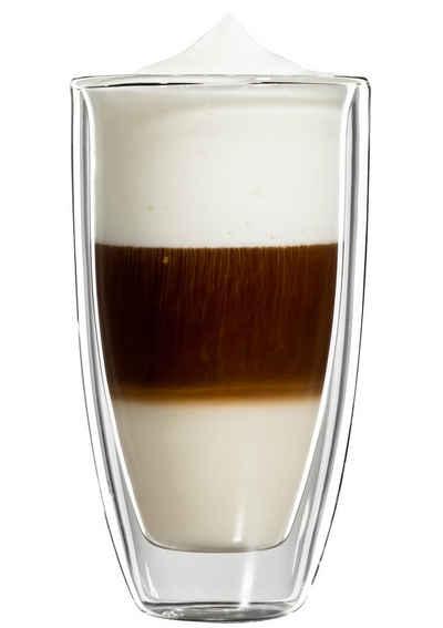 Bloomix Latte-Macchiato-Glas »Roma Grande«, Glas, Doppelwandig, 4-teilig
