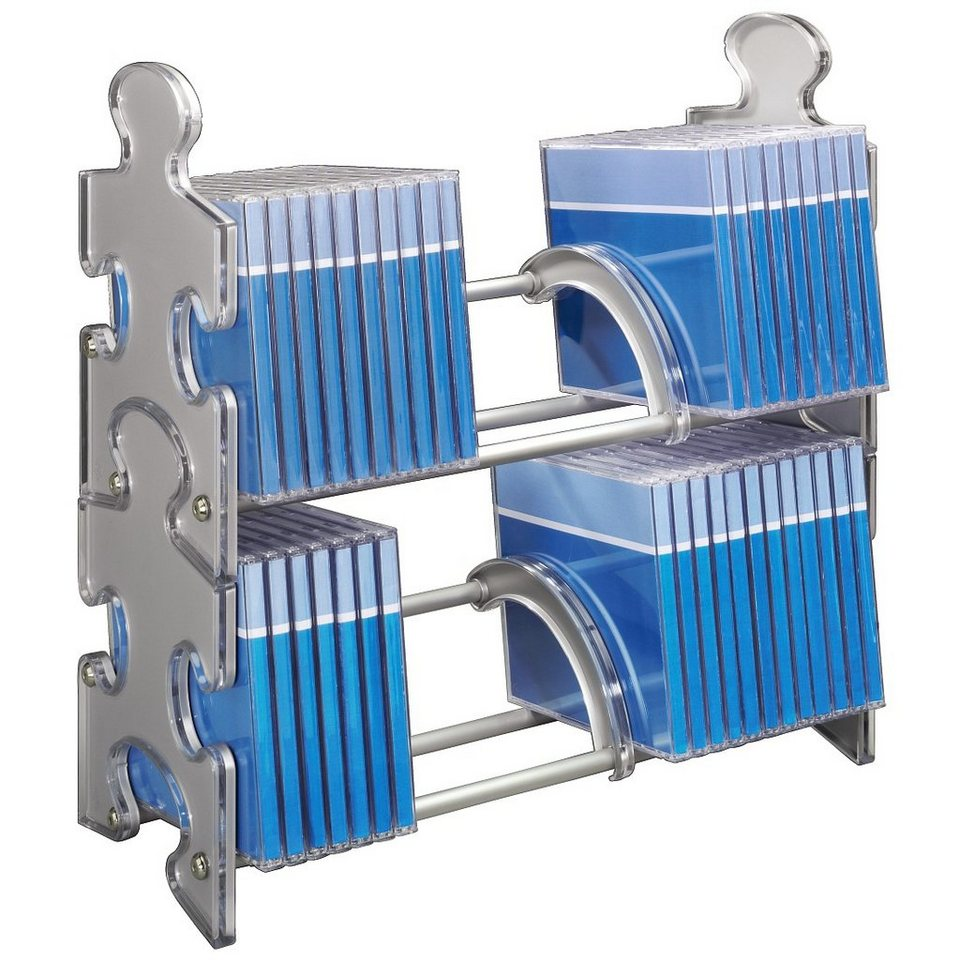 Hama CD-Rack Puzzle 60, Silber in Silber