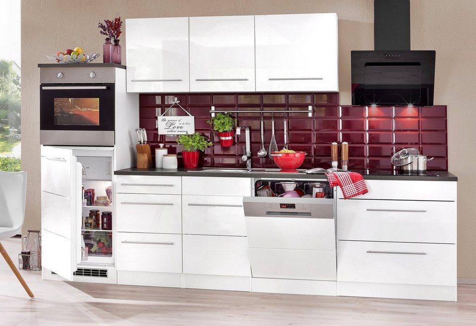 HELD MÖBEL Küchenzeile »Trient«, mit E-Geräten, Breite 300 cm mit  Stangengriffen aus Metall online kaufen | OTTO