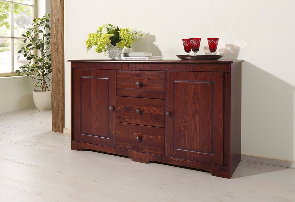 Home affaire Sideboard »Pöhl«, 140 cm breit in kolonial