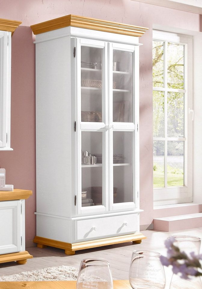 Premium collection by Home affaire Vitrine »Romantica«, 2-türig in weiss/ honig