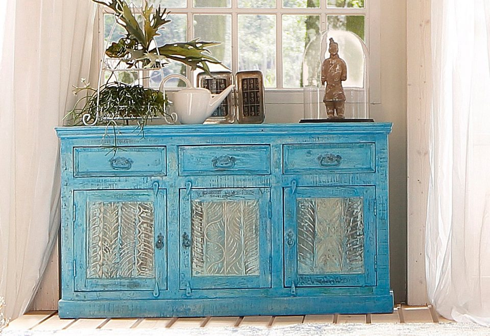 sit sideboard blue 140 cm breit online kaufen otto. Black Bedroom Furniture Sets. Home Design Ideas