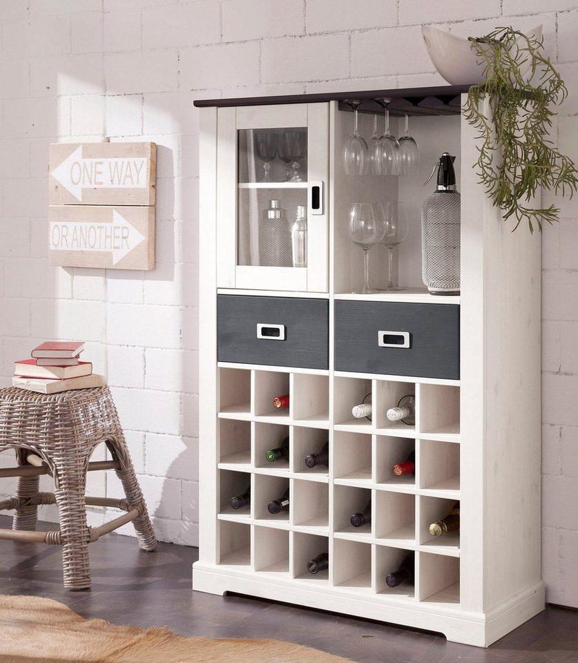 home affaire highboard list mit f chern f r 24 flaschen online kaufen otto. Black Bedroom Furniture Sets. Home Design Ideas