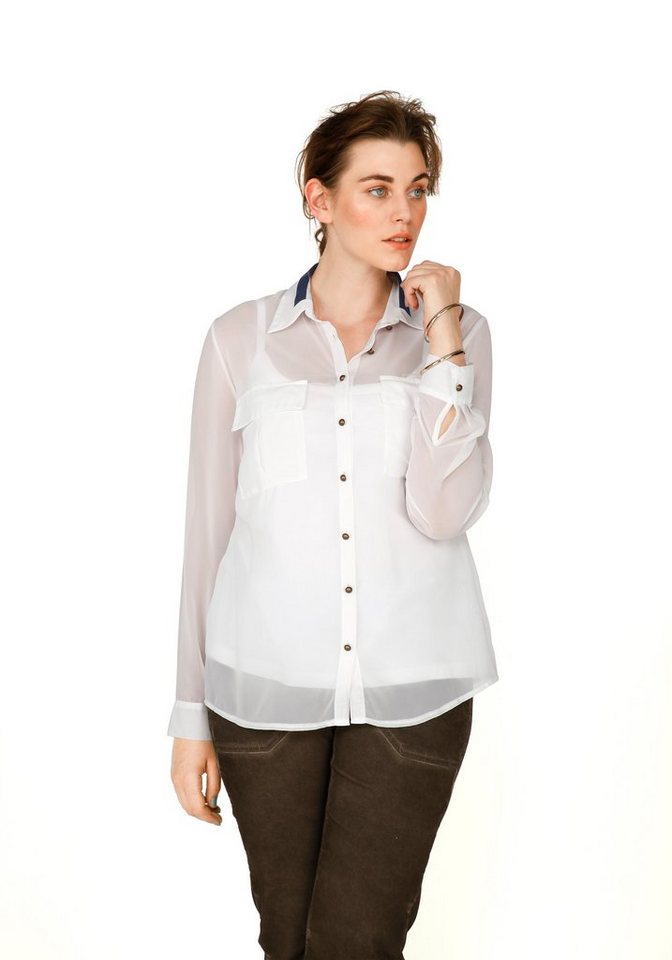 sheego Trend Bluse in offwhite