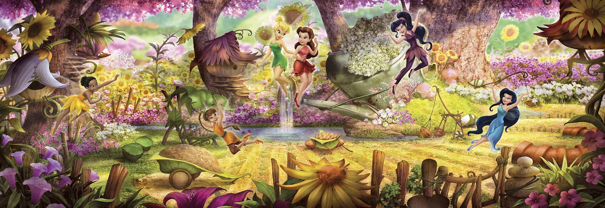 Komar, Papiertapete, »Fairies Forest«, 368/127 cm