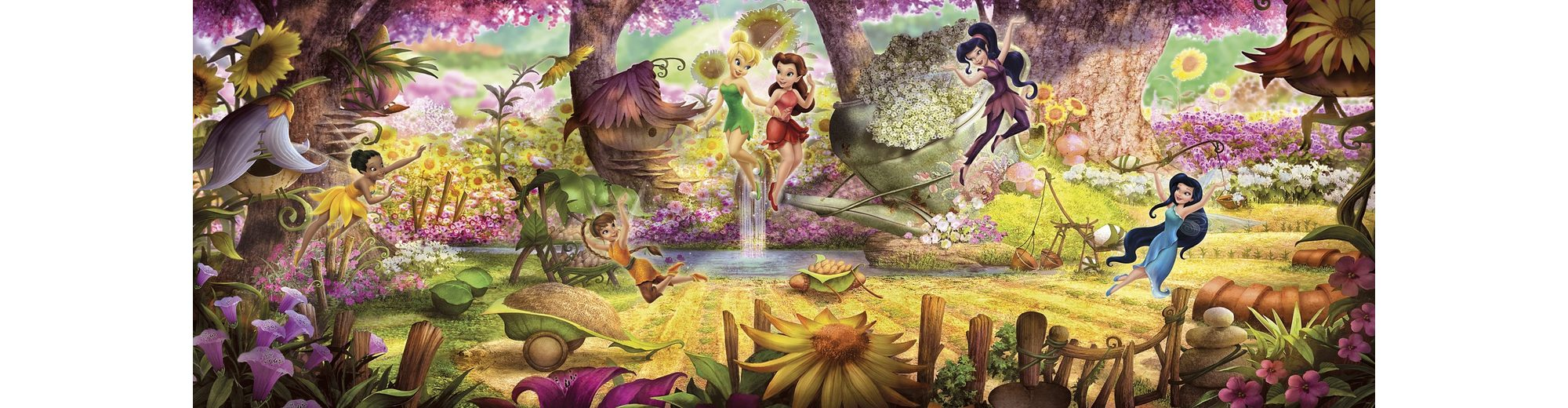 Komar, Papiertapete, »Fairies Forest«, 368/127 cm
