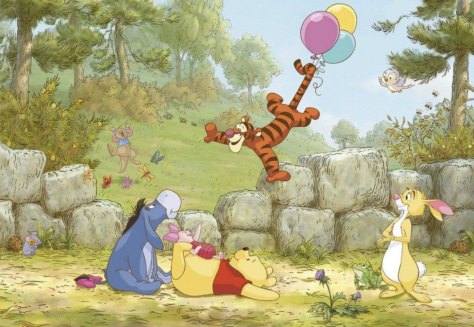 Komar, Papiertapete, »Winnie Pooh Ballooning«, 368/254 cm in bunt