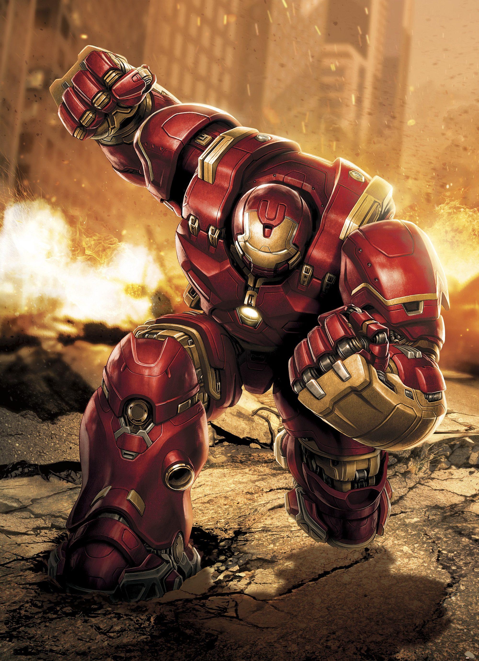 Komar, Papiertapete, »Avengers Hulkbuster«, 184/254 cm