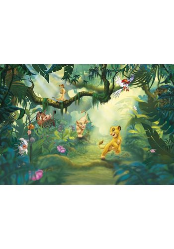 Komar, Papiertapete,  Lion King Jungle, 368/254 cm grün   04036834084752