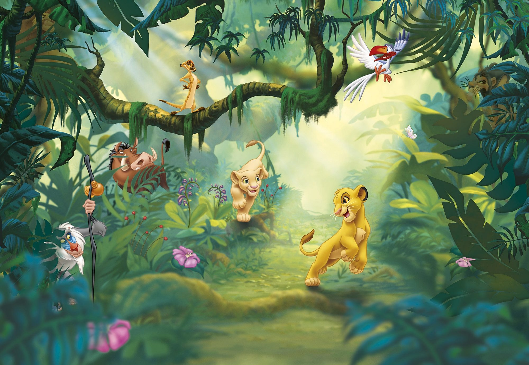 Komar, Papiertapete, » Lion King Jungle«, 368/254 cm