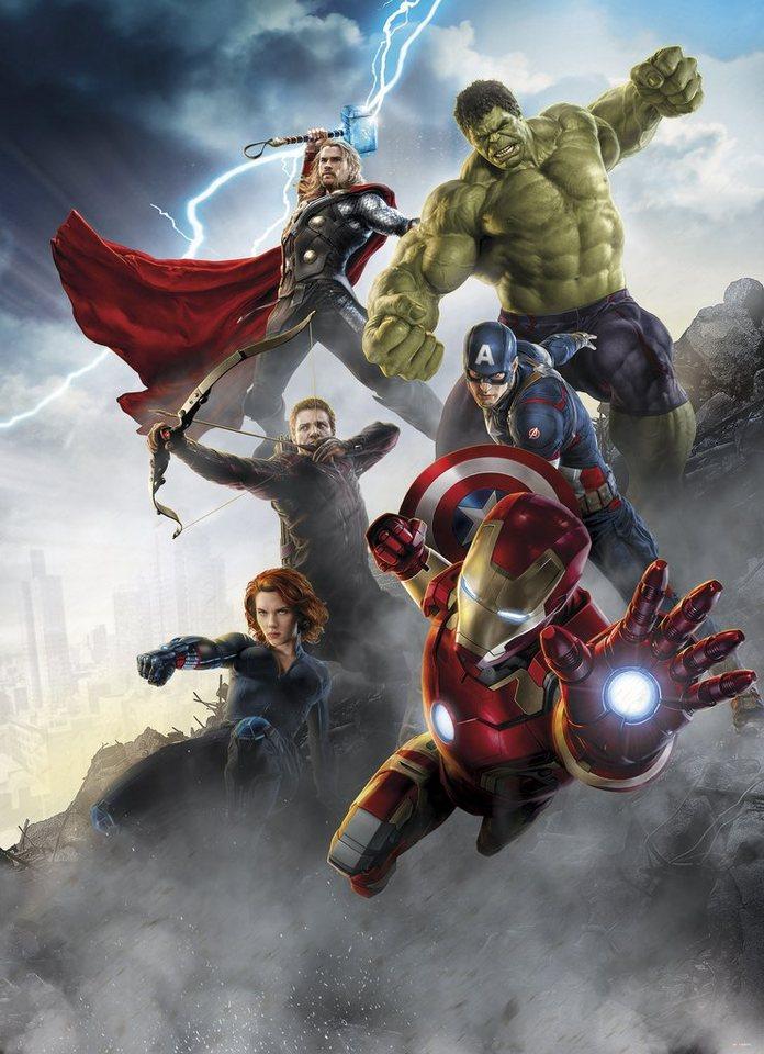 Komar, Papiertapete, »Avengers Age of Ultron«, 184/254 cm in bunt