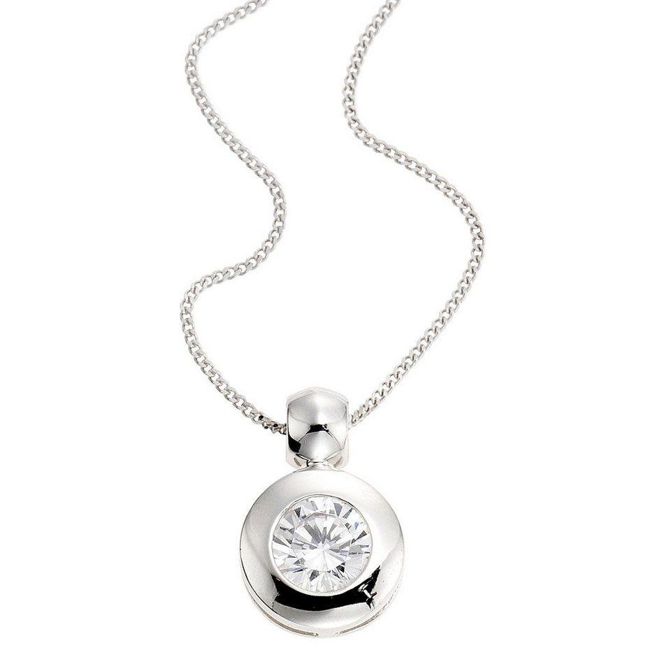 Zeeme Anhänger mit Kette »925/- Sterling Silber Zirkonia weiß« in weiß